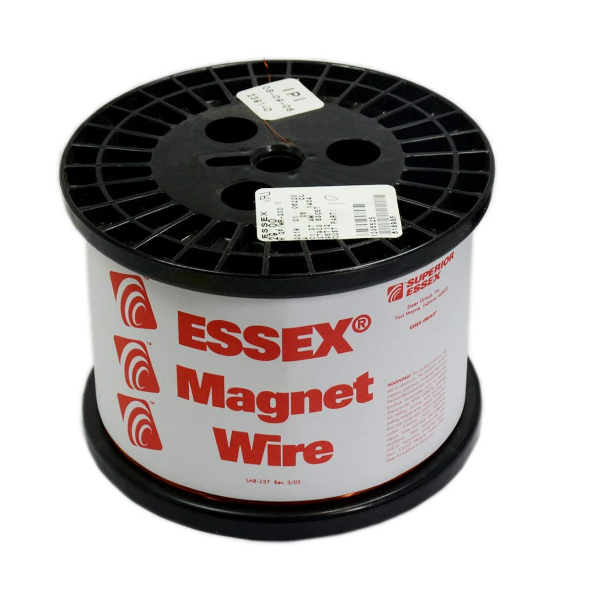 Magnet Wire 25 AWG Enameled Heavy Build HTAIH GP/MR-200 Essex Brand 10 LB Spool Research Industrial Applications and Personal Projects