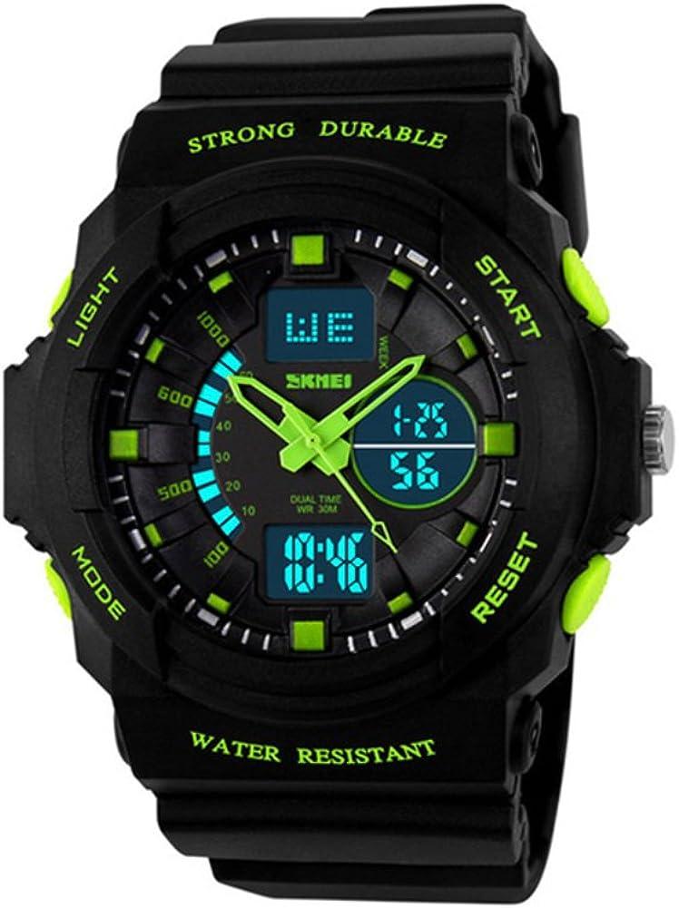 Reloj Deportivo,Multifunción Reloj electrónico al Aire Libre Moda diseño Hombre a Prueba de Agua-M