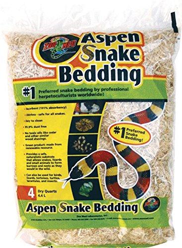 Zoo Med Laboratories SZMSB4 Aspen Snake Bedding, 4 Quart