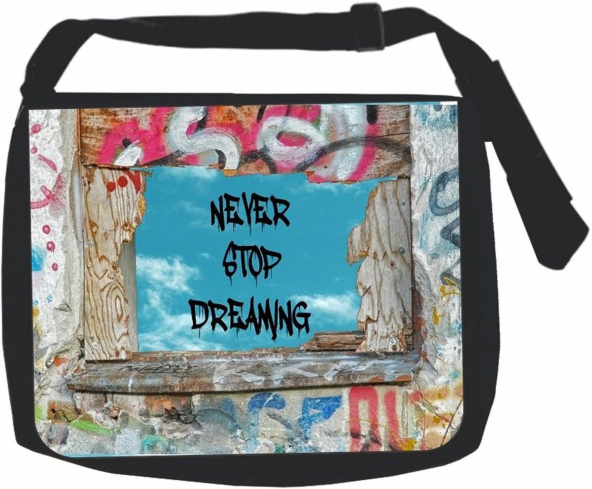 Graffiti style messenger bag.