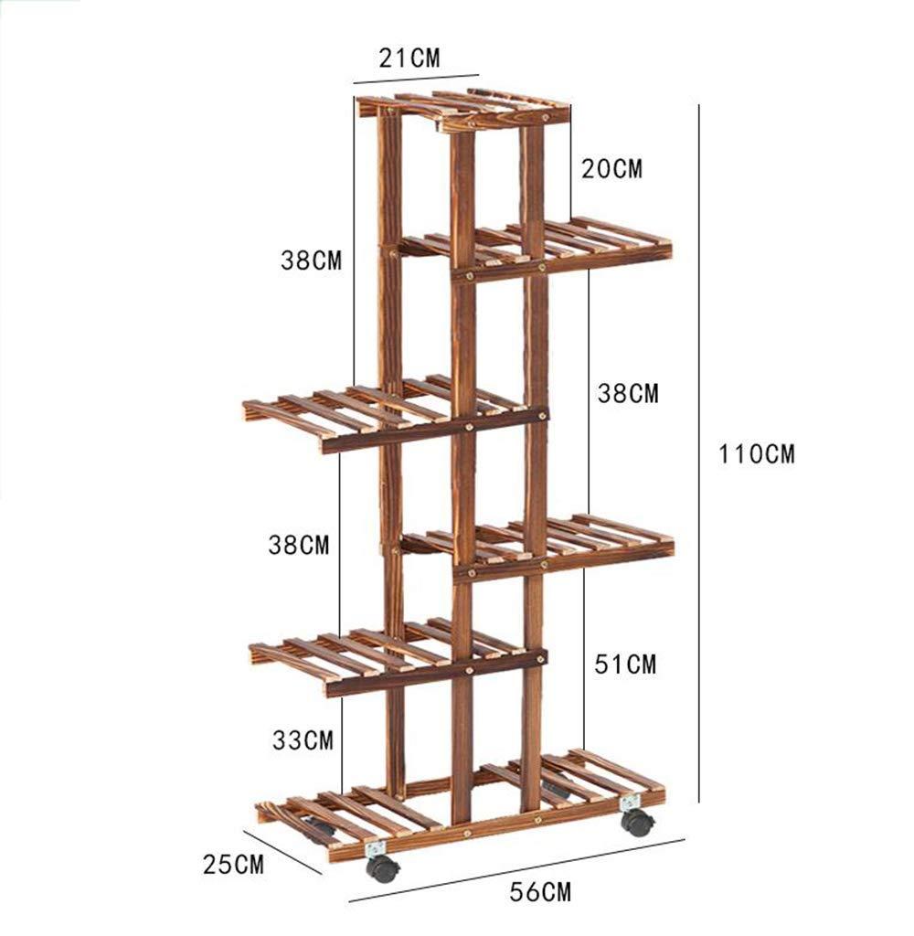 Haucalarm Supporto per Fiori Multistrato in Legno, da Pavimento, per Giardino, Camera da Letto, Balcone, Marronee, Height 72cm