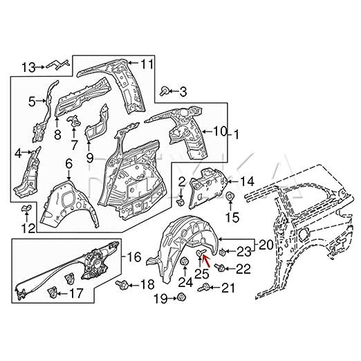 Amazon Com Rexka Front Fender Push Type Retainer Clips For Honda