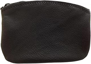 product image for North Star Men's Large Leather Zippered Coin Pouch Change Holder 5 X 3.5 X 0.25 Inches Black