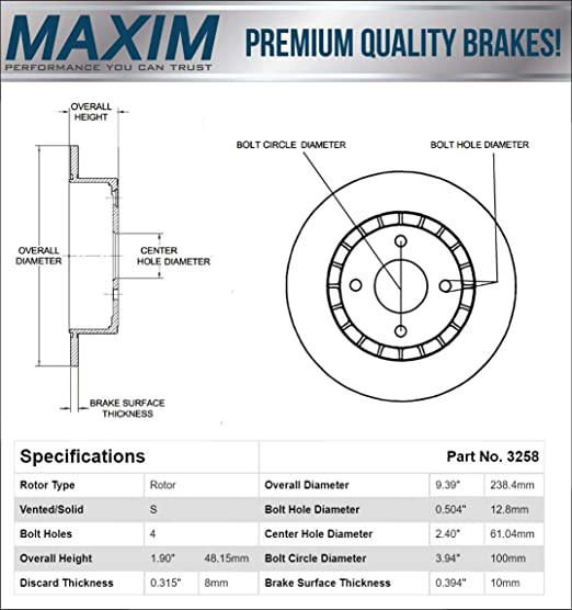Brake Rotors REAR ELINE DRILLED SLOTTED Honda PRELUDE 1997-2001