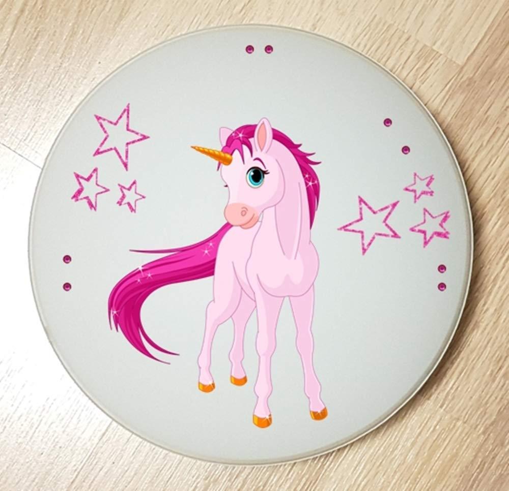 mit//ohne Name Einhorn Unicorn Pferd 2 auch LED Wandlampe Deckenleuchte