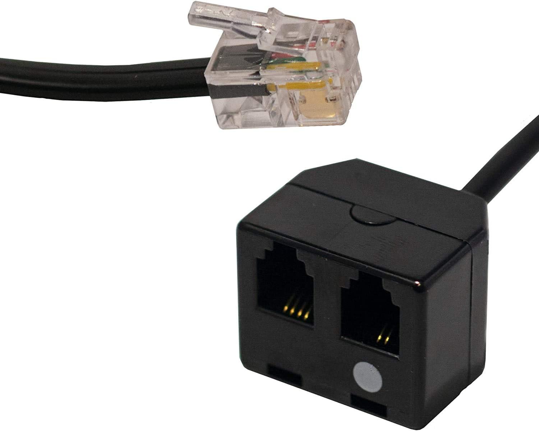 Doppel Headset Rj9 Adapter Mit Mute Computer Zubehör