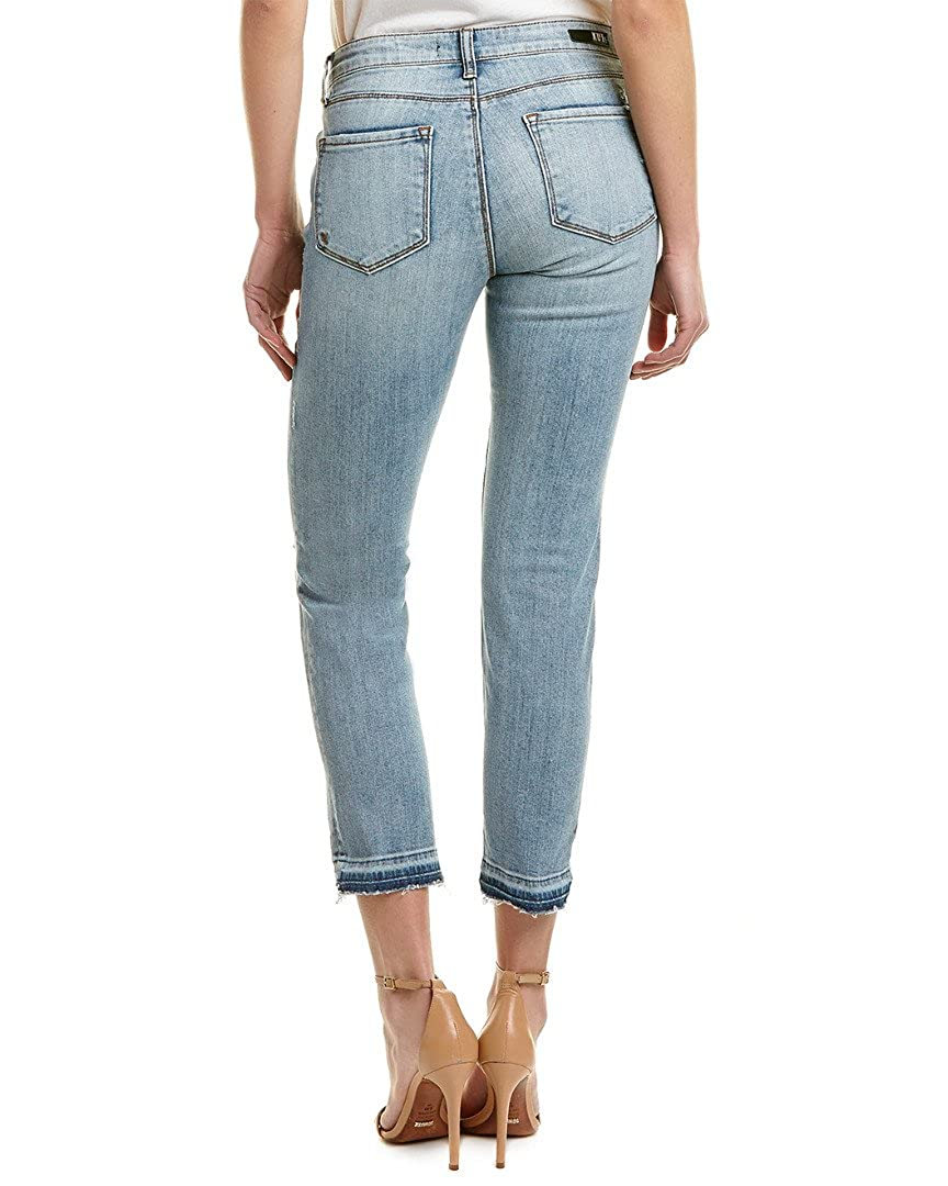 KUT from the Kloth Womens Reese Ankle Straight Leg Jean Announce//Medium Base Wash 0 27 27