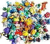 Anime Poke Action Figures Mini Plastic Figures Randomly Small Size Gift, 144-Piece, 2-3 cm
