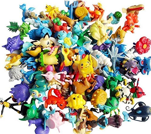 Anime Poke Action Figures Mini Plastic Figures Randomly Small Size Gift, 144-Piece, 2-3 cm by Kids Favorites