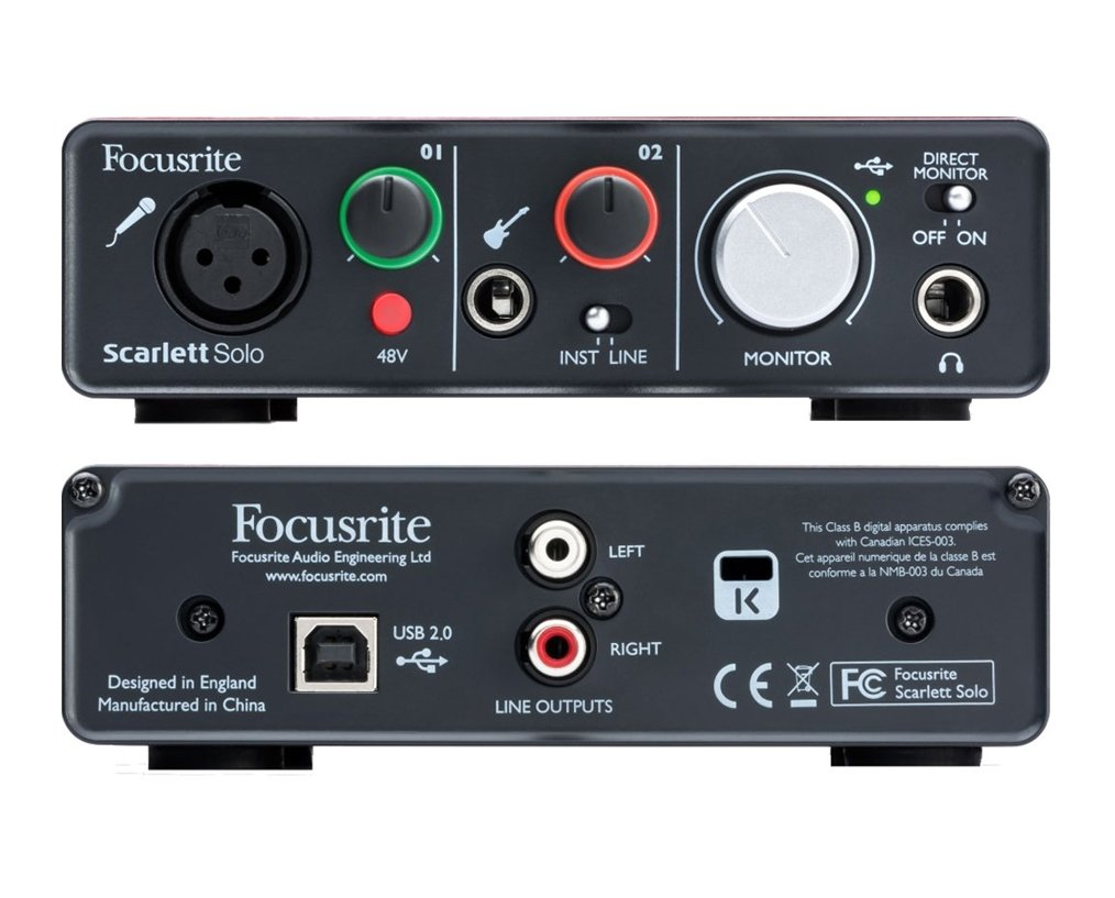 Focusrite Scarlett Solo Computer USB Interfaz de Audio ...