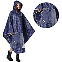 Hombre Mujer Capa de lluvia impermeable Poncho impermeable