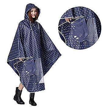 dfdee7037db Homme femme Cape de pluie Etanche Poncho Anti-pluie à Capuche Epais  Vêtement Manteau Imperméable