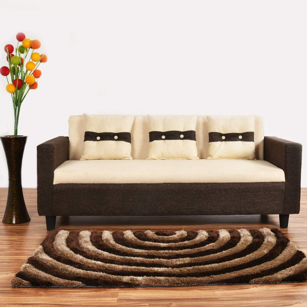 Casastyle Homestyle 3 Seater Sofa Cream Brown Sofas For Living Room Amazon In Home Kitchen