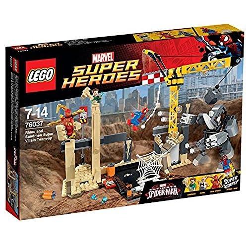 Lego 76037 - Marvel Super Heroes - Jeu de Construction - Equipe Rhino et Homme Sable