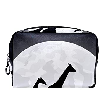 3953018476cb MAPOLO Africa Giraffe Family With Giant Moon Makeup Bag Toiletry ...