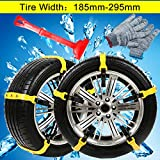 Anti Slip Tire Chains Snow Tire Chains Adjustable Car Tire Snow Chains Emergency Anti Slip Chain Fit for Most Car/SUV/Truck