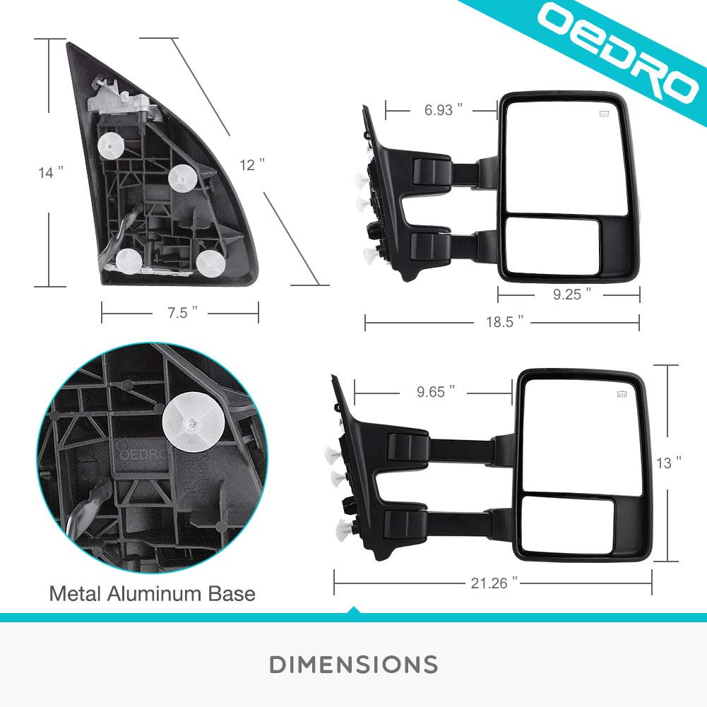Towing Mirrors For Ford F250 F350 F450 Excursion Truck 2003 F Super Duty 250 350 450 550 Wiring Diagram Manual Heated Telescoping Folding With Led Signal Light Clearance Tow