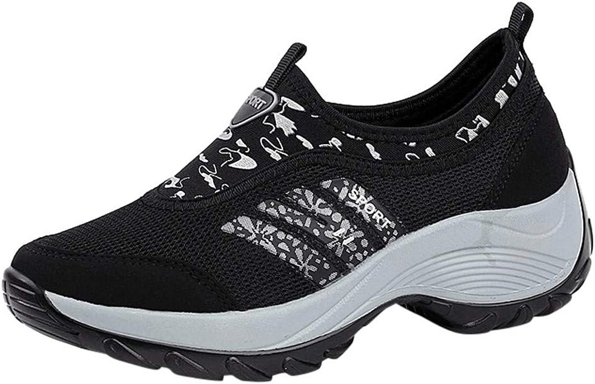 Sneakers Mujer cuña Blancas Calzado Deportivo Hombre Zapatillas de Deporte Mujer (Negro,35): Amazon.es: Zapatos y complementos