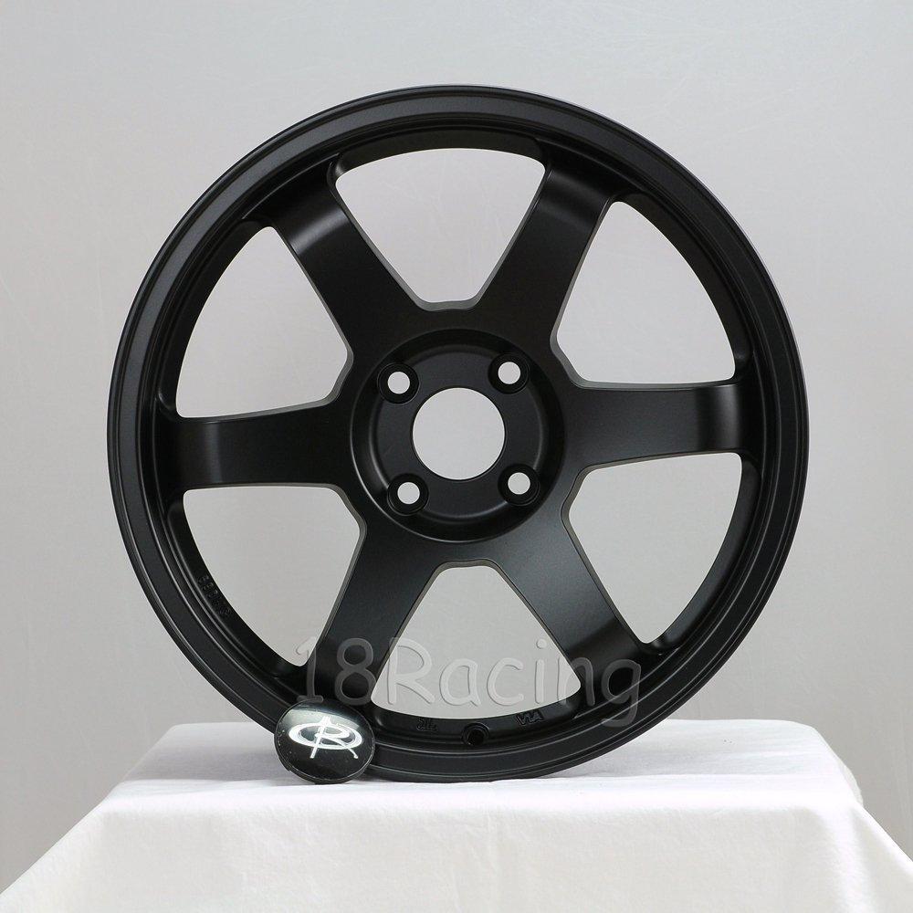 rota wheels 4x100. amazon.com: 4 pcs rota grid 17x8 pcd:4x108 offset:40 hb73 flat black: automotive rota wheels 4x100