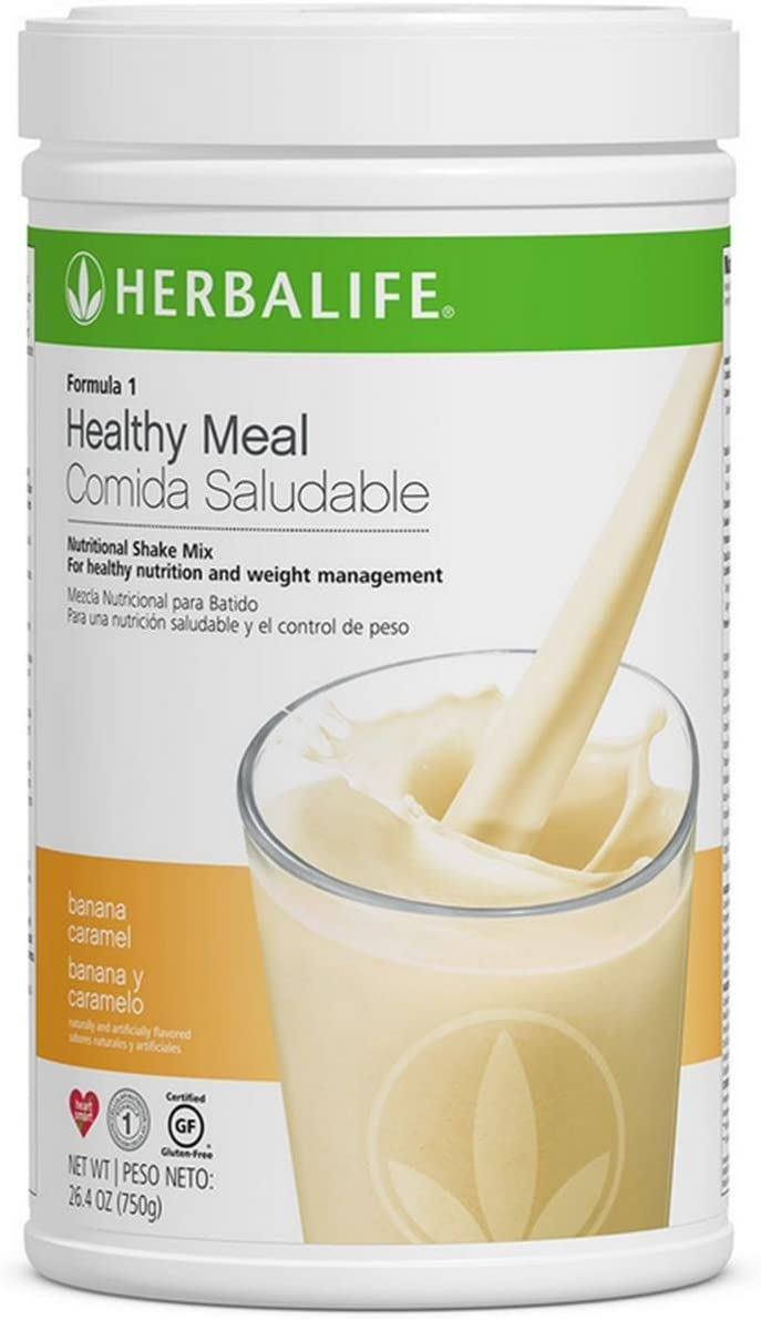 Herbalife Formula 1 Healthy Meal Nutritional Shake Mix 10 Flavor Banana Caramel