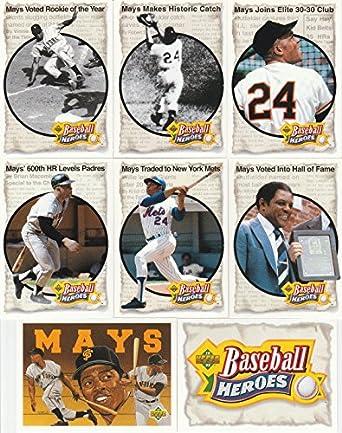 Amazoncom 1992 Upper Deck Willie Mays Baseball Heroes 8 Card Lot