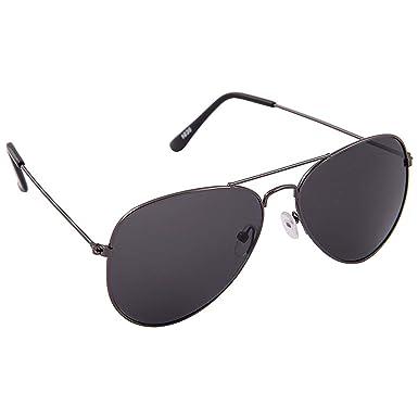Allen Cate Black Aviator Sunglasses  Amazon.in  Clothing   Accessories d9488373f97