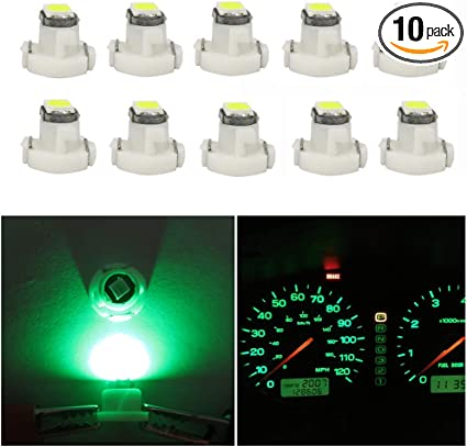 10* T3 Neo Wedge LED Bulb Cluster Instrument Dash Climate Base Lamp Light Useful