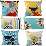 Decorative Pillow Cover - HOSL® Decorative Pillow Cover Case Pack of 6 (4 Square About 18