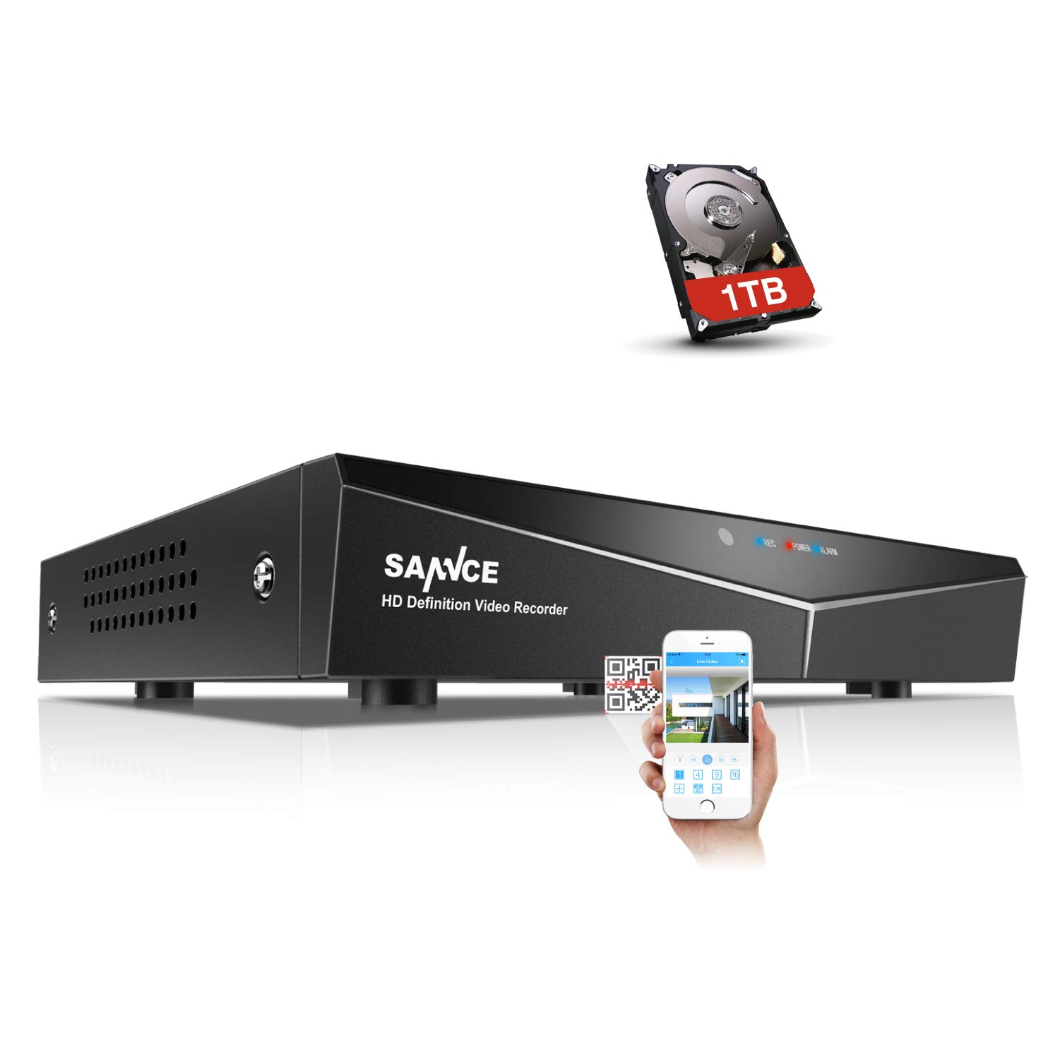 SANNCE 8-Channel HD 1080N Home Security Surveillance System Video DVR Recorder with 1TB Hard Disk Drive by SANNCE