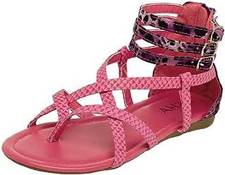 002b0b6bdde18 Lasonia Back Zipper Gladiator Strappy Sandals Ls1283 Blue or Fuchsia