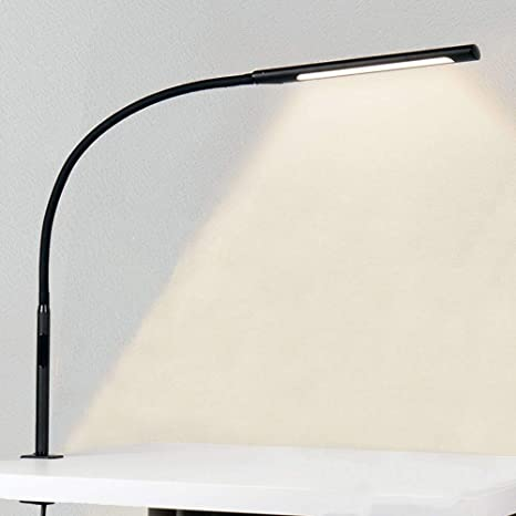 Amazon Com Desk Lamp 12w Amazlit Office Home Gooseneck Led Eye Care Swing Arm Lamp With Clamp Multifunctional Space Saver With Stepless Dimming Adjustable Color Temperature Touch Control Timer Memory Function Home Kitchen