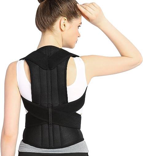 Correcci/ón de Espalda Ajustable 2 Tama/ños Nuevo M Corrector de Postura Unisex Cintur/ón de Soporte Hombro para Corrector Lumbar