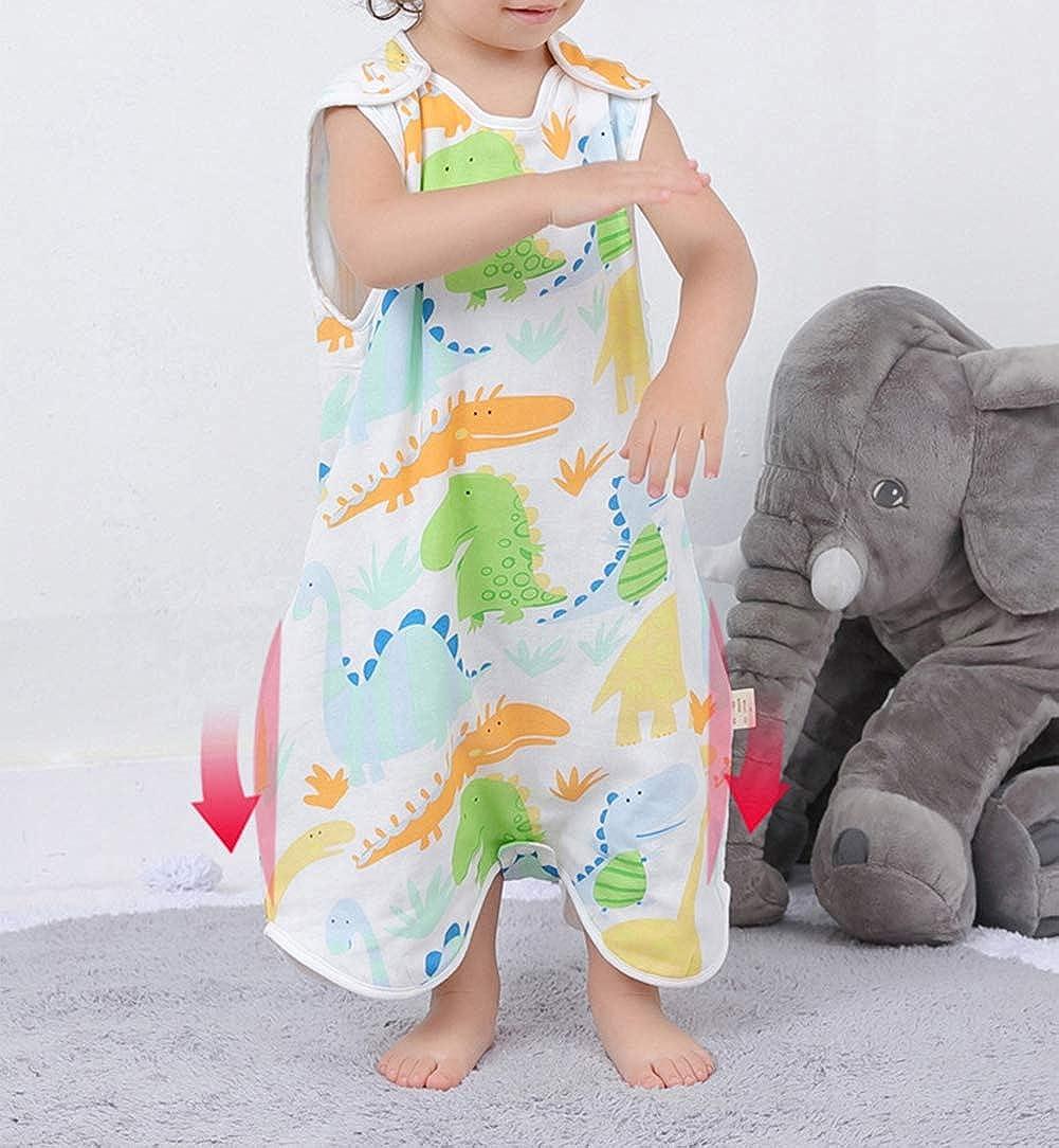 0-36 Mois Bevalsa Grenouill/ère avec Jambes B/éb/é Fille Gar/çon Manches Courtes Turbulette Et/é Gigoteuse Combinaison 100/% Mousseline de Coton Douillette Coton Pyjama Sac de Couchage