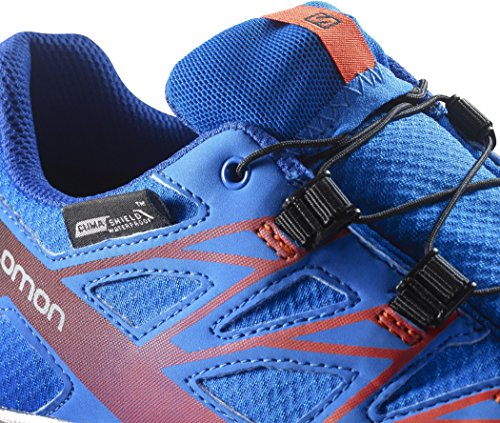 Salomon L39055300, Zapatillas de Trail Running para Niños Azul (Bright Blue /         Blue Yonder /         Lava Orange)