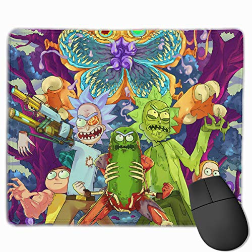 Crazy Zombies Ri-ck Mor-ty Gaming Mouse Pad Classic Computer Mousepad Non-Slip Rubber Mouse Mat for Home Office ()