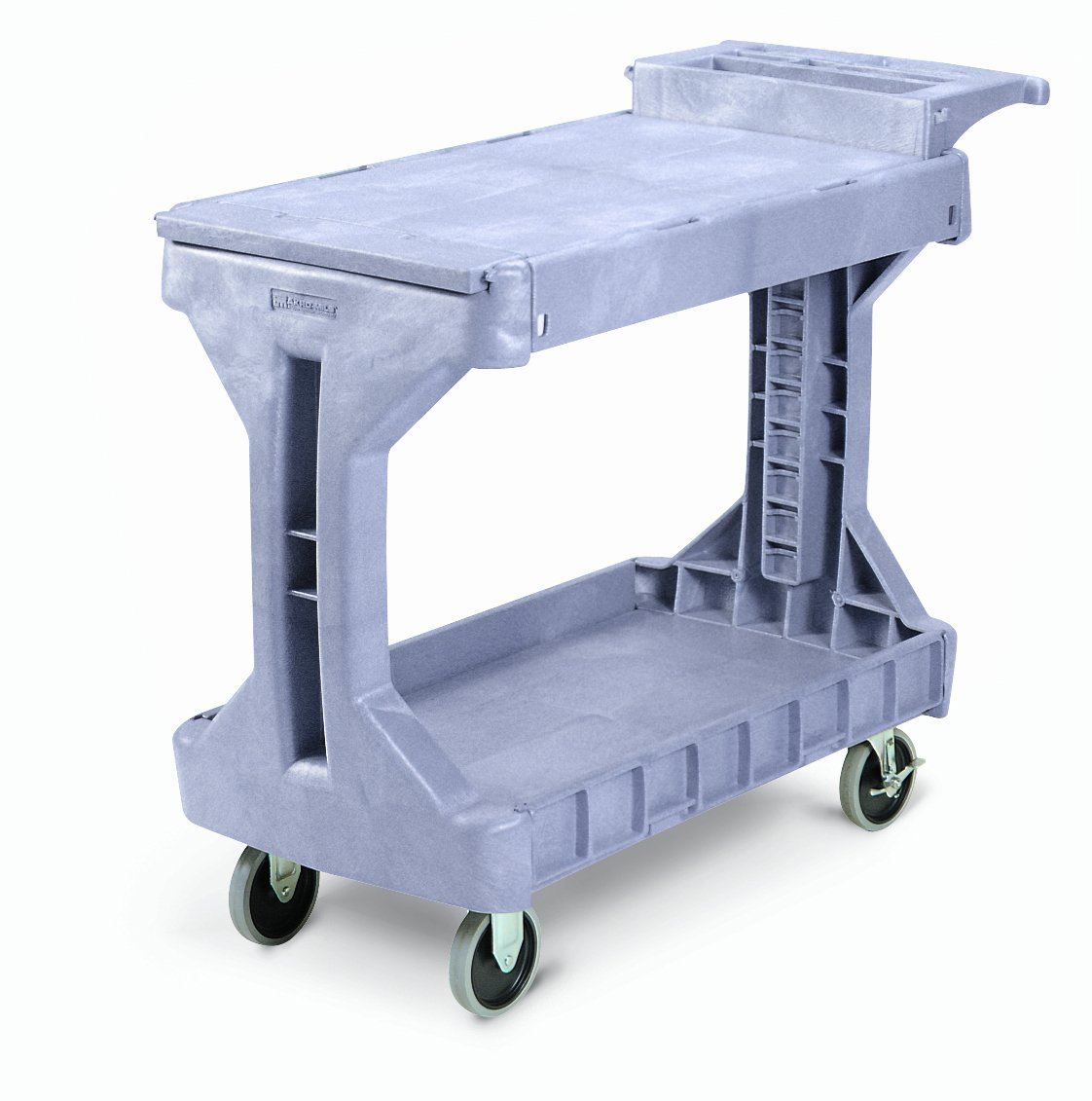 Akro-Mils 30930 2 Shelf Plastic Utility and Service ProCart, 400 lb capacity, Small, Grey