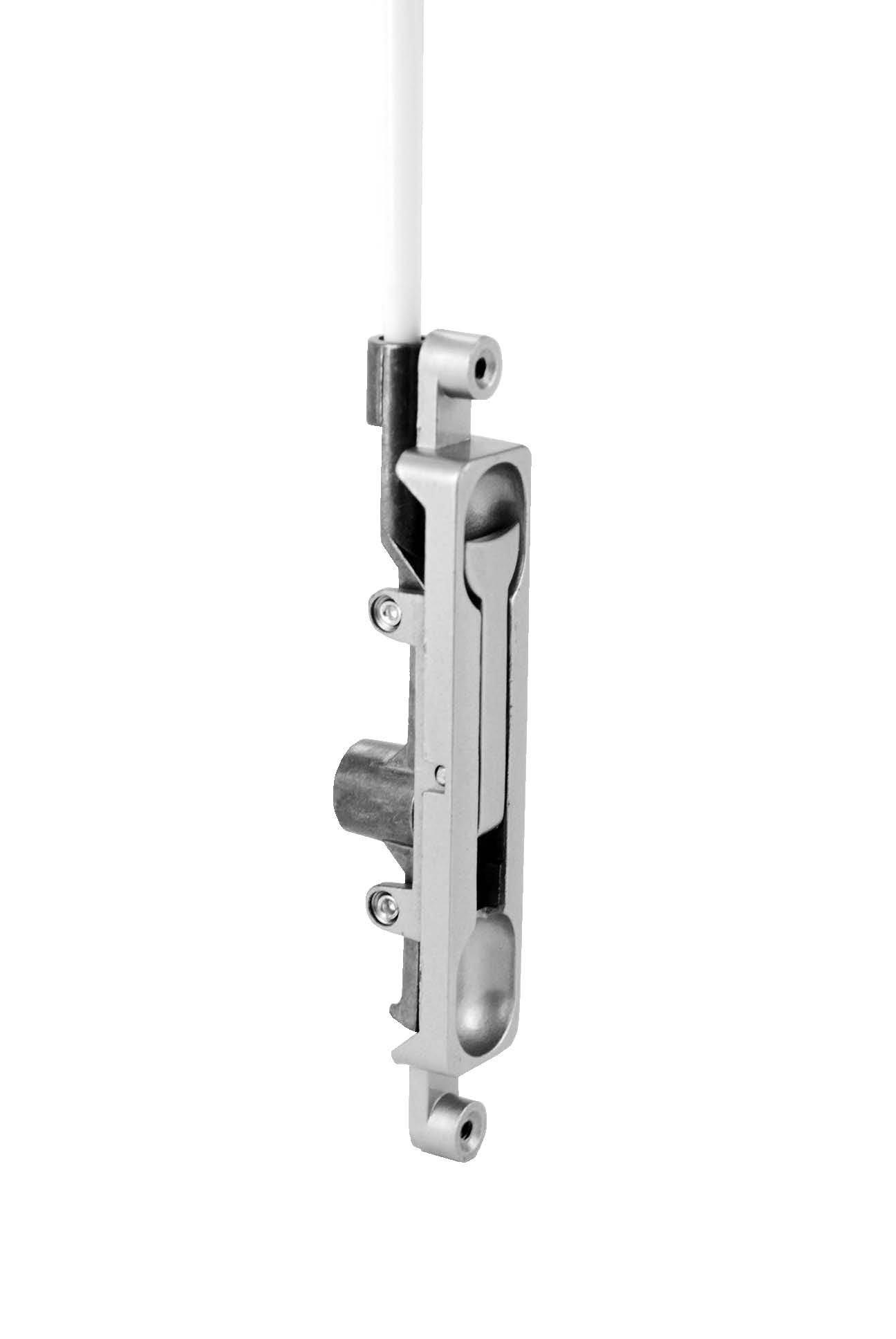 Don-Jo 1550-DU Aluminum Door Flush Bolt, Duro Coated, 1/8'' Offset, 15/16'' Width x 4-1/4'' Height (Pack of 10)