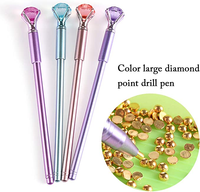 1Pc 5D Diamond Painting Tool Point Drill Pen Embroidery Cross Stitch DIY Supply