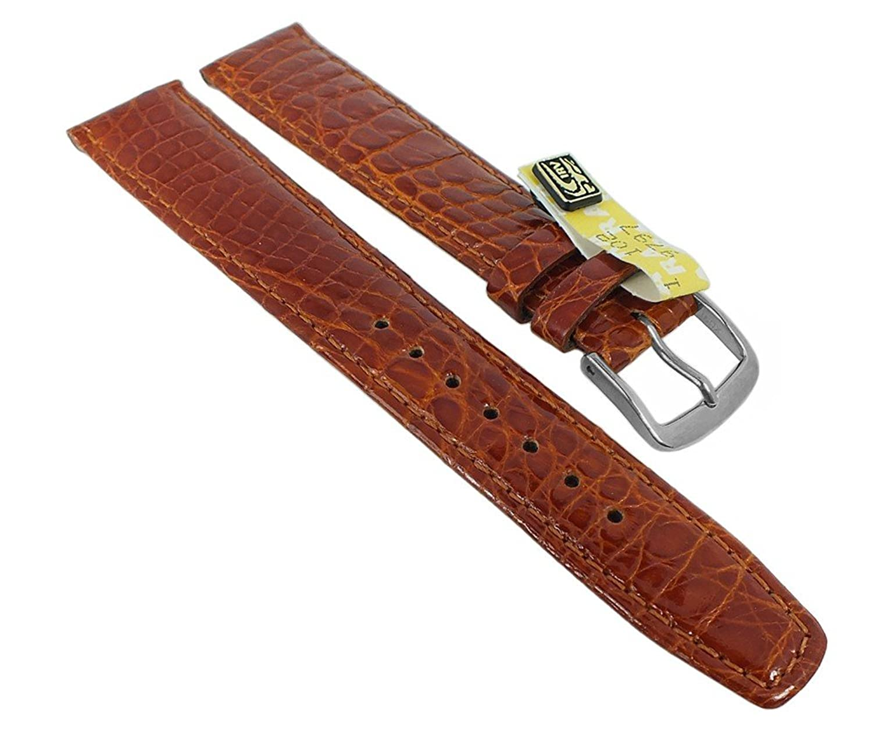 Graf Manufaktur Bahamas XL Ersatzband echt Krokodil Leder braun 793.2.22 - 27569 - Stegbreite:20mm - Schließe:Silbern