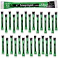 "Cyalume Green Glow Sticks - Premium Bright 6"" SnapLight Sticks with 12 Hour Duration"