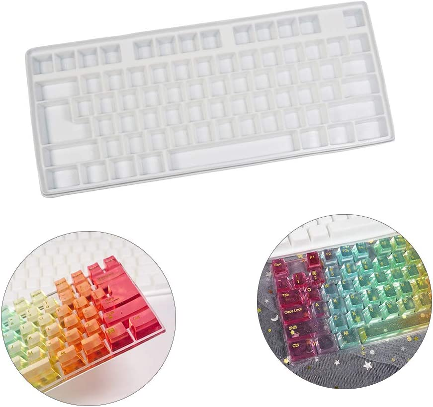 DIY Casting Mold Resin Casting Mold Silicone Casting Mold Keycap Mold Keyboard Shape Chocolate Mold