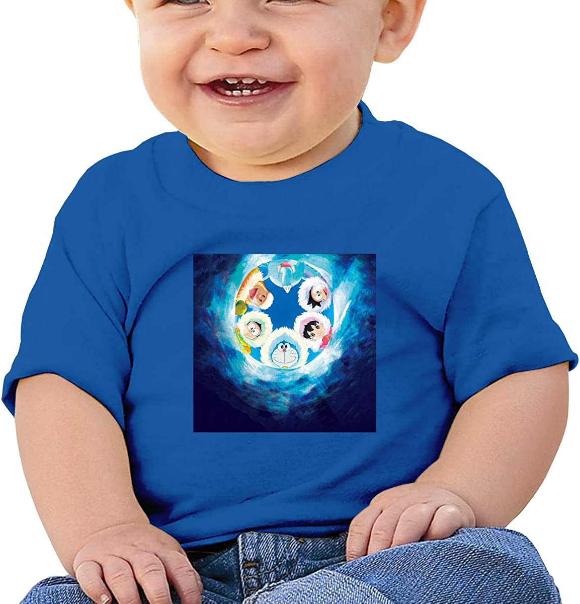 EVE JOHN Doraemon Polar Adventure Tee Soft T Shirts for Infant Black