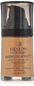Revlon PhotoReady Airbrush Effect Makeup, Medium Beige