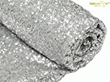 ShiDianYi Sequin Aisle Runner-36Inchx15Feet Wedding Sequins Carpet Aisles Floor Runner (Silver)