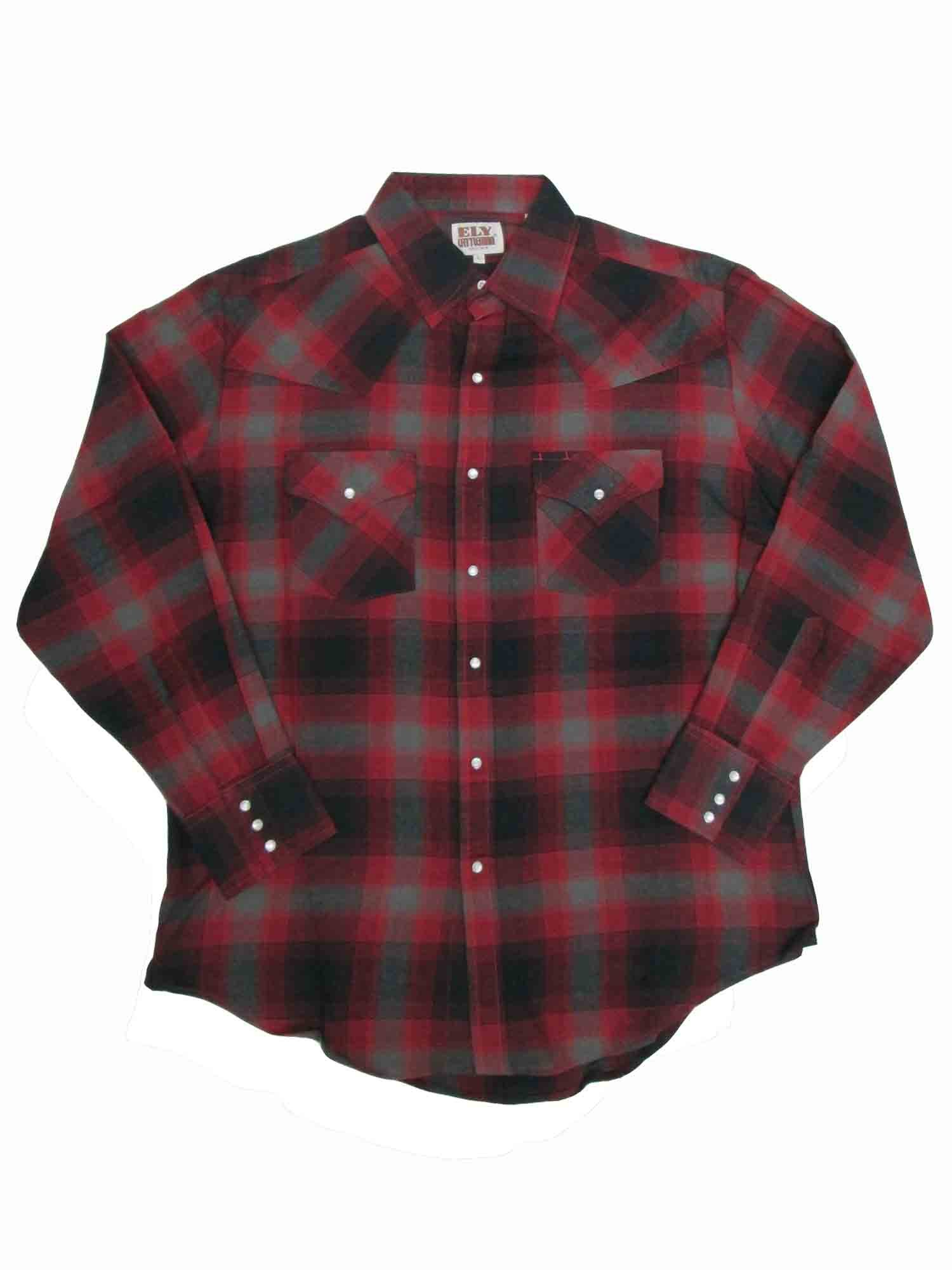 Ely Cattleman Tall Mens Western Flannel Plaid 4-Shirt Bundle Pack