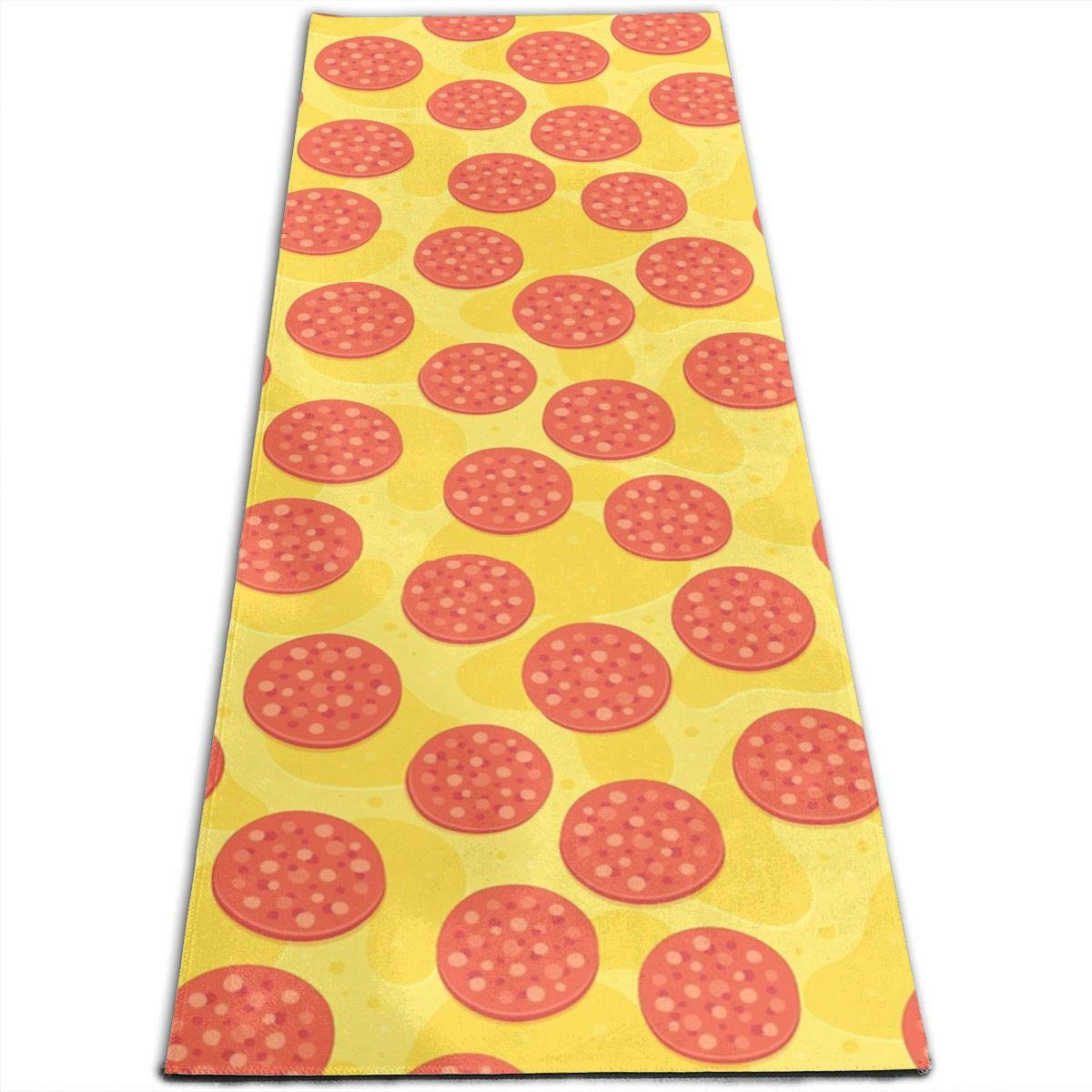 Amazon.com: Pepperoni Pizza Pattern Printed Yoga Mat Prana ...