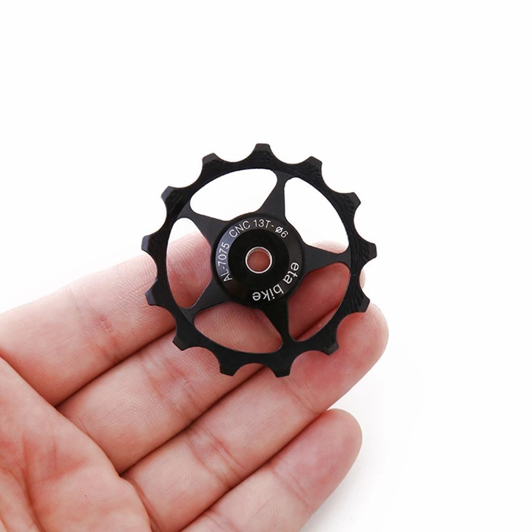 Rodillo tensor trasero para bicicleta, Y56 13T, de aleación de aluminio, para correa de distribución de bicicleta de montaña o bicicleta de carretera, ...