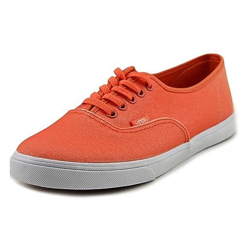 8ff35572a7 Vans Men s Authentic Lo Pro 2 Tone Glitter Skateboarding Shoe Fresh Salmon Peach  Nectar 8