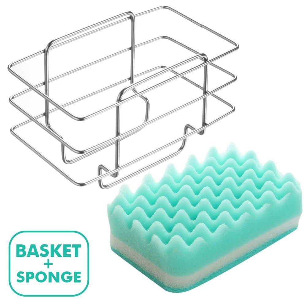 Amazon.com - Dish Soap Caddy Sponge Holder for Scrub Sponges and ...