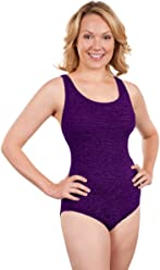 ba3510762f Krinkle Cross Back One Piece Chlorine Resistant Swimsuit Eggplant